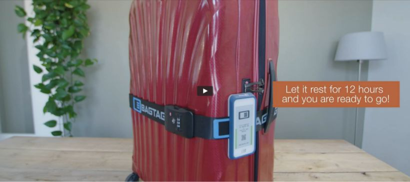 BAGTAG flexible attachment method for any type of suitcase