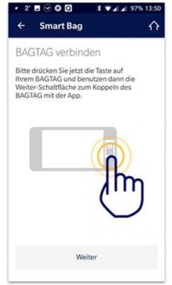 Lufthansa app: BAGTAG update