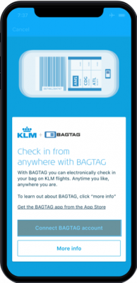 How to use BAGTAG with KLM